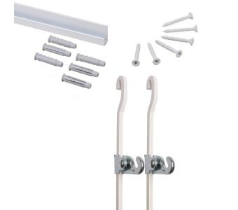 """STAS j-rail max white 150 cm 