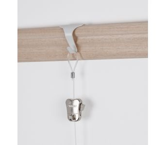 STAS moulding hook white + cord with loop and STAS zipper