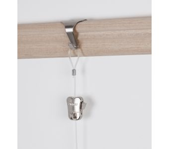 STAS moulding hook chrome + cord with loop and STAS zipper