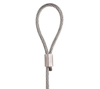 STAS steel cable with loop