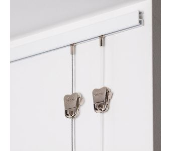 """STAS minirail white 59"""" - complete kit, including 2 clear cords with cobra end 59"""" with STAS zipper"""