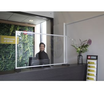 STAS standing sneeze guard - counter screen - 46.5x26.8 inch (W x H)