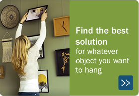 Cubicle picture hangers - STAS picture hanging systems