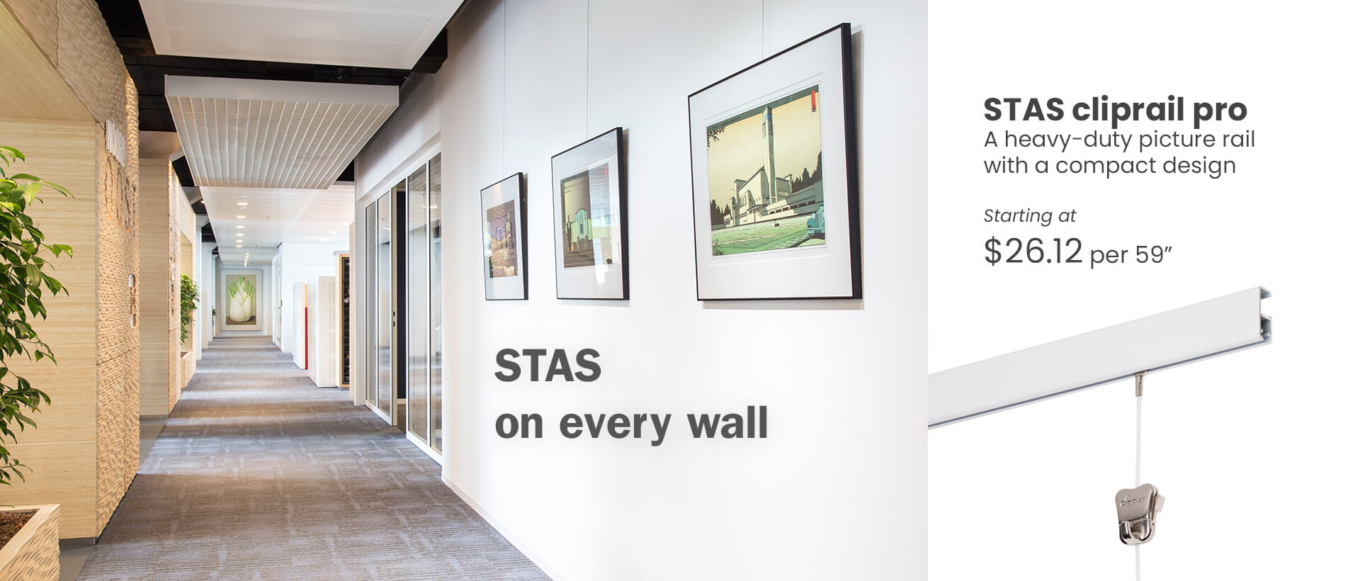 Gallery art hanging system