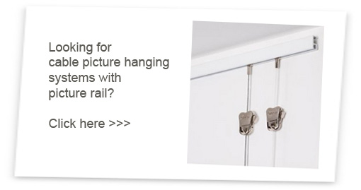picture rail cable hanging systems