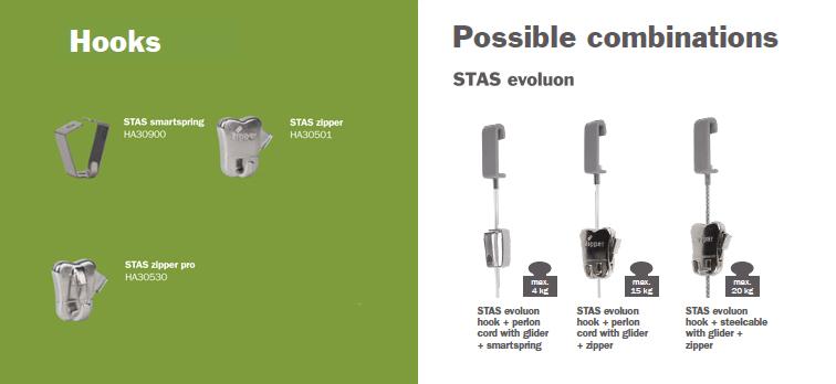 STAS evoluon hooks and cords