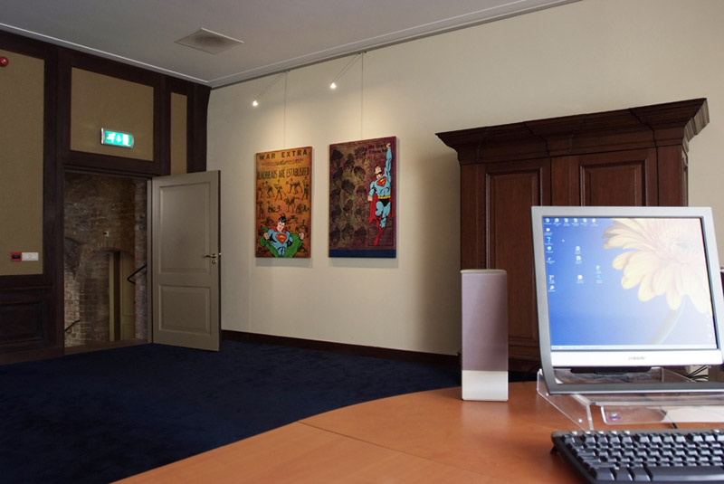 Track lighting systems in the office