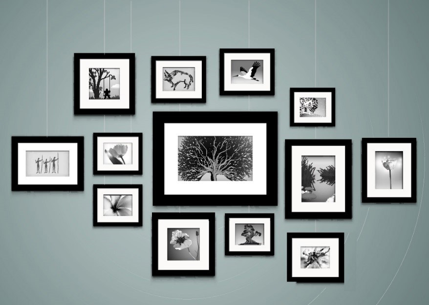 Hanging art gallery style stas picture hanging systems for Hanging pictures on walls ideas